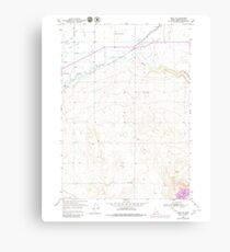 USGS TOPO Map Idaho ID Rigby SE 237866 1950 24000 Canvas Print