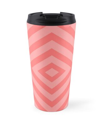 Abstract geometric pattern - pink. by kerens