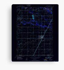 USGS TOPO Map Idaho ID Rigby 237861 1949 24000 Inverted Canvas Print