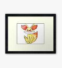 Fire Fox Fennekin Framed Print