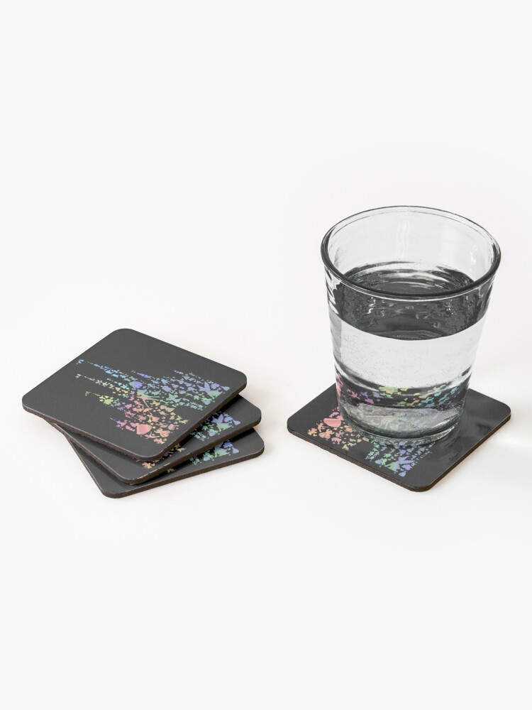 Alternate view of Happiest Castle On Earth (Rainbow Explosion) Coasters (Set of 4)