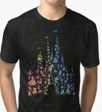 Happiest Castle On Earth (Rainbow Explosion) Tri-blend T-Shirt