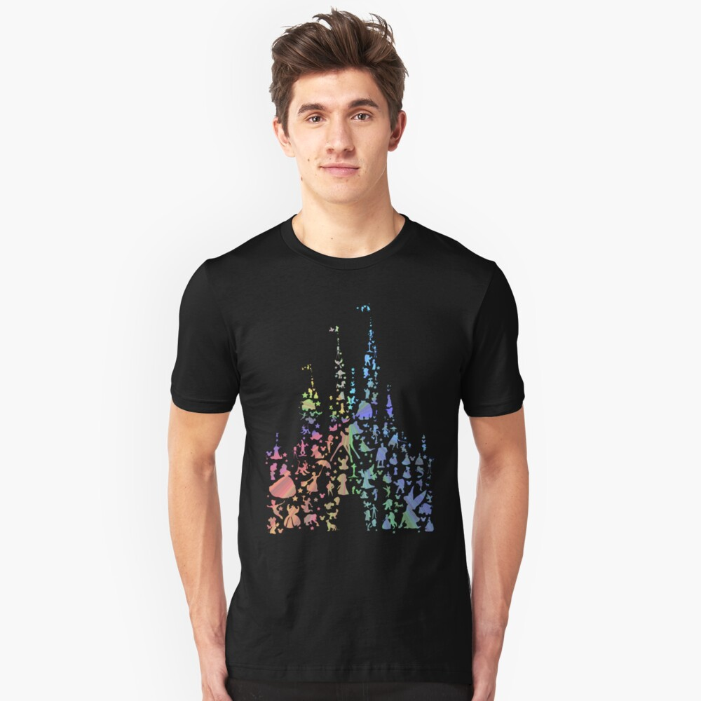 Happiest Castle On Earth (Rainbow Explosion) Slim Fit T-Shirt