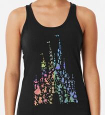 Happiest Castle On Earth (Rainbow Explosion) Racerback Tank Top