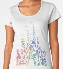 Happiest Castle On Earth (Rainbow Explosion) Premium Scoop T-Shirt