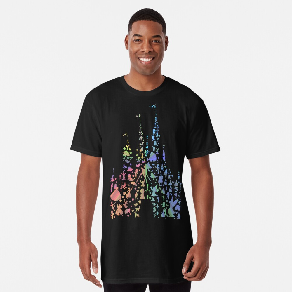 Happiest Castle On Earth (Rainbow Explosion) Long T-Shirt