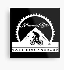 Mountain Bike - Your Best Company Metal Print