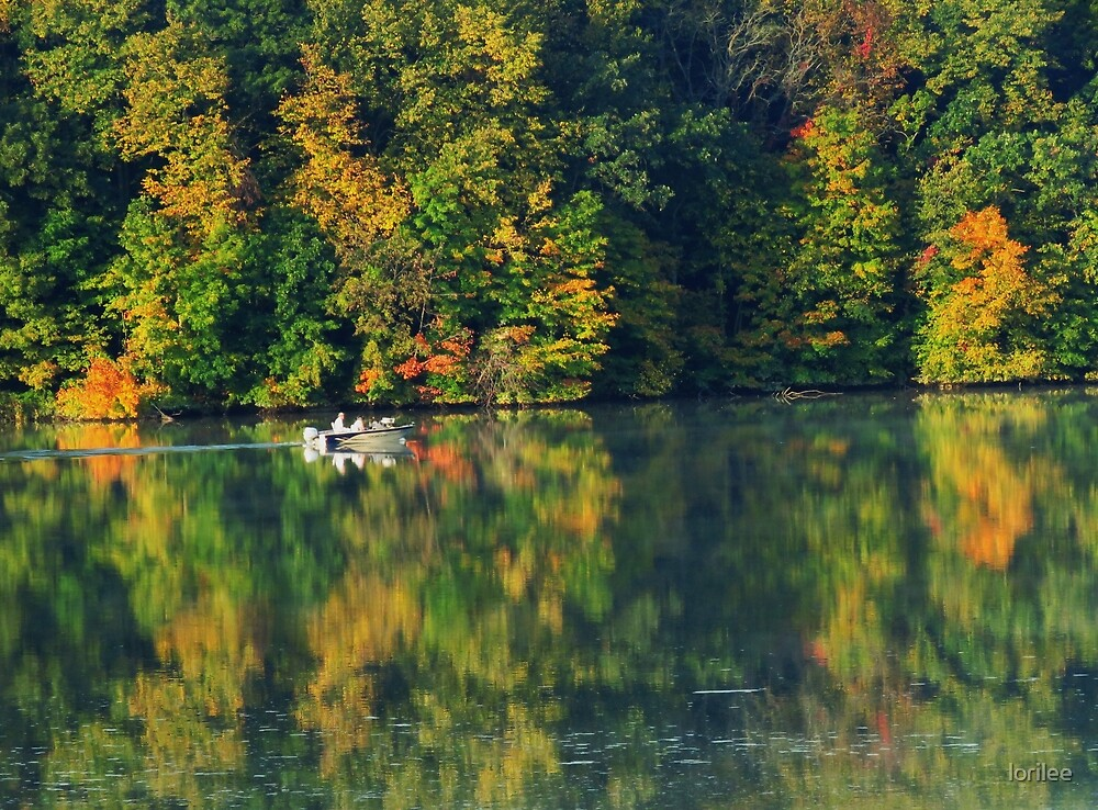 Early Morning on Frog Hollow Lake  by lorilee
