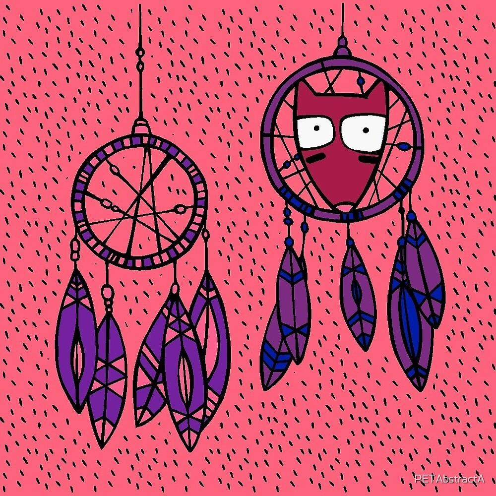 Cartoonish Dreamcatcher Print  by PETAbstractA