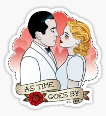 As Time Goes By  Sticker