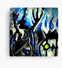 ghost night chandelure, lampent, litwick Canvas Print