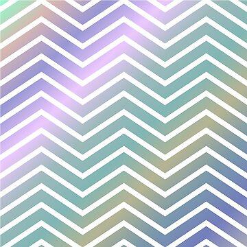 colored chevron - pillow by vista-se