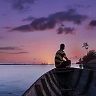 Cambodian boy on the boat by QuintaVale