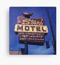 Stars Motel Canvas Print