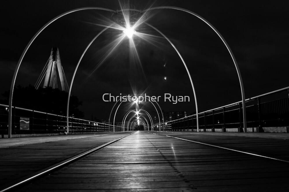 Night Tram Walk by Christopher Ryan