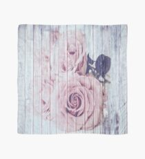 Vintage Shabby Chic Dusky Pink Rose Roses Scarf