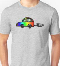 Regenbogen Hippie Auto T-Shirt