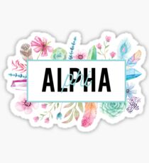 APhi Feathers Sticker