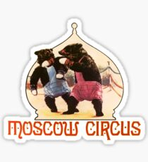 Moscow Circus Boxing Bears Russia Sticker