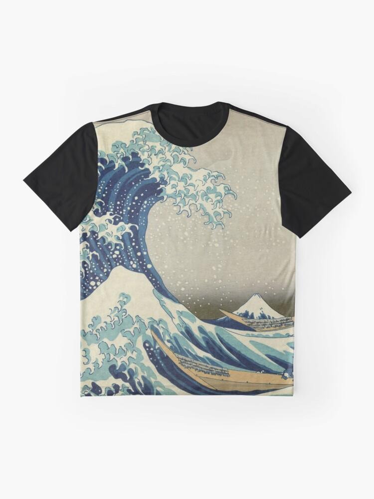 Vista alternativa de Camiseta gráfica Ola japonesa Kanagawa Japón