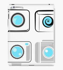 Set of Digital Camera  Icons  Isolated on White Background iPad Case/Skin