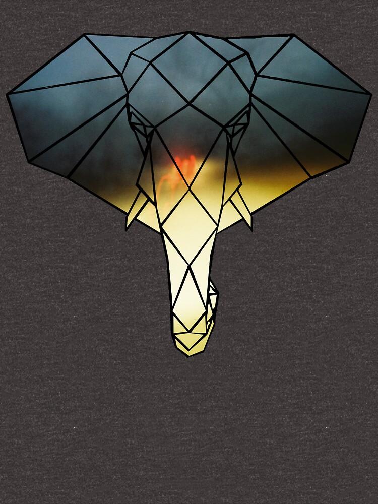 Elephant Line Geometry (Night Drive Empty Road) by KineticZen