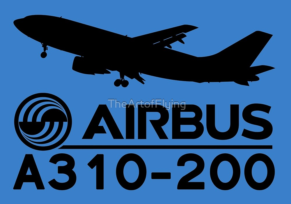 Airbus A310-200 - Silhouette (Black) by TheArtofFlying