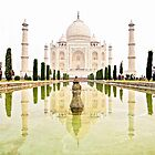 The Taj Mahal at Sunrise in November  by Valerie Rosen