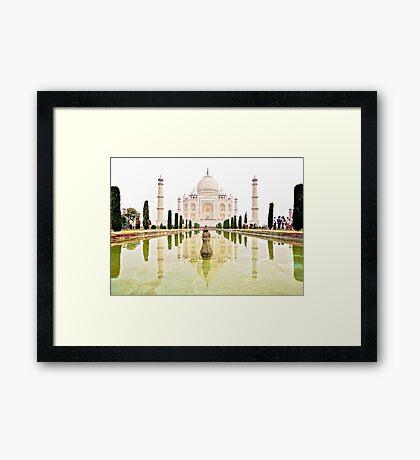 The Taj Mahal at Sunrise in November  Framed Print