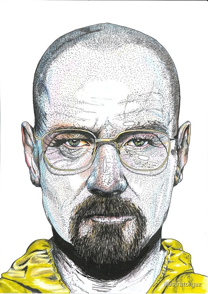 Walter White Portrait Illustration by illustratoryaz