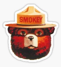 Smokey the Bear Sticker