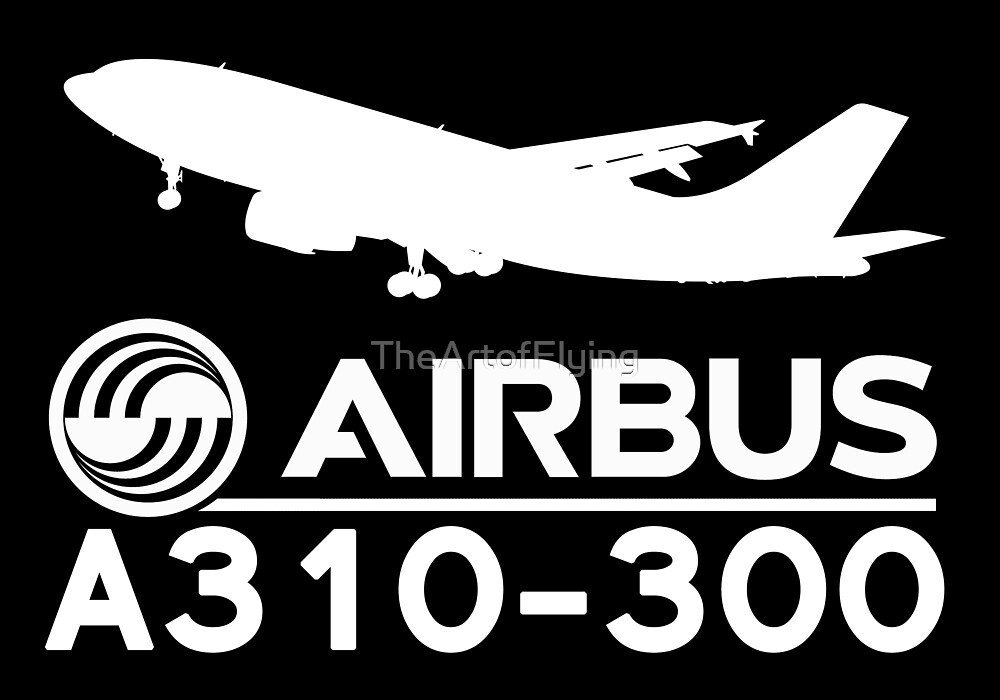 Airbus A310-300 - Silhouette (White) by TheArtofFlying