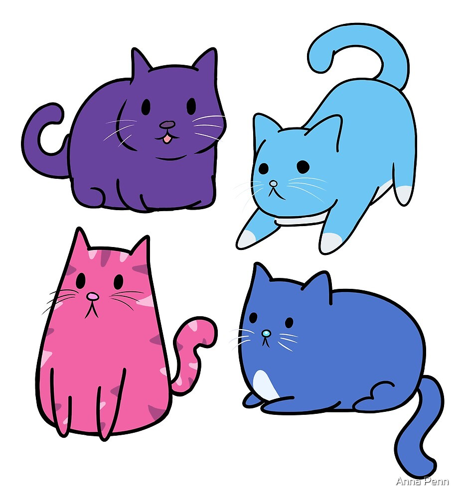 Colourful Cats by Anna Penn