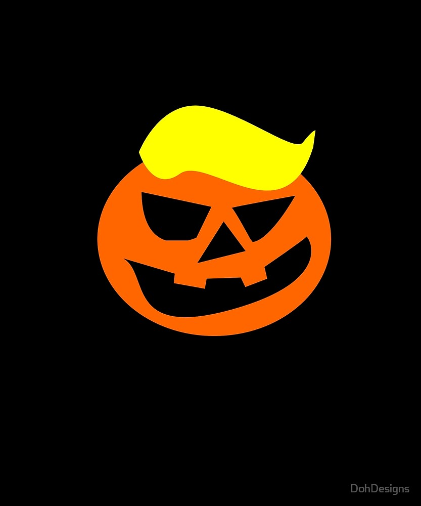 Trumpkin Trump's Head Halloween Pumpkin by DohDesigns