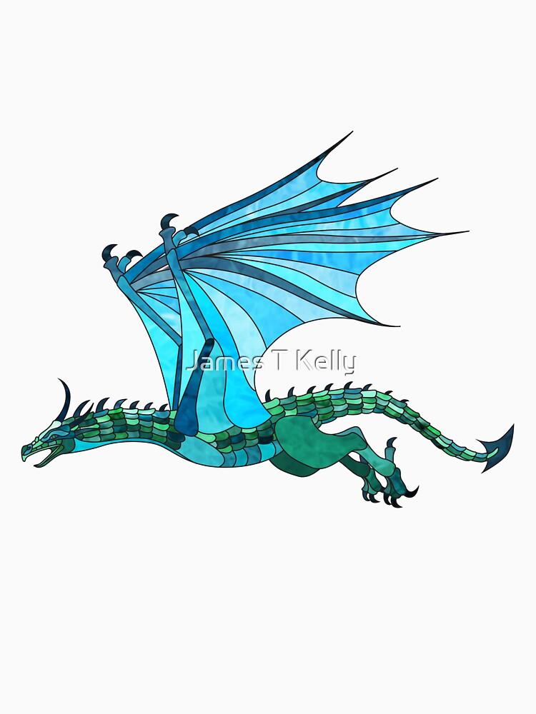 Dragon in flight by realjtk