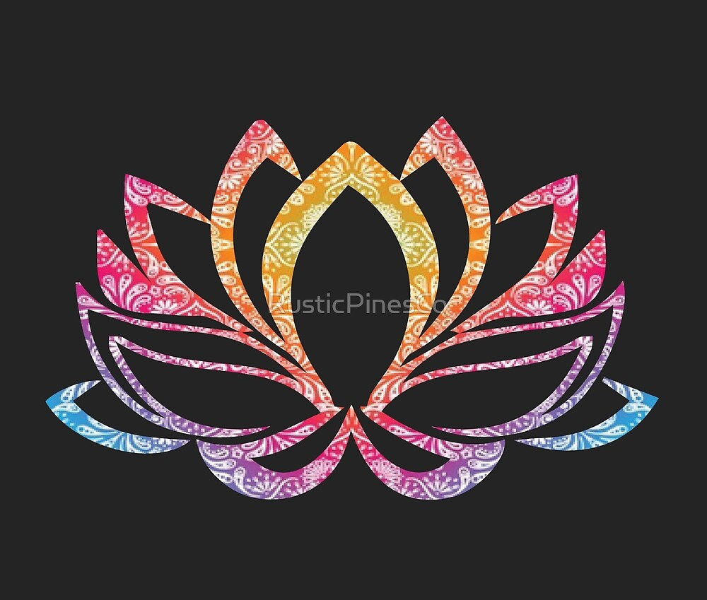 Colorful Mandala Lotus // Weekend Originals Collection by RusticPinesCo