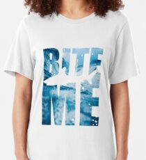 Bite me T shirt Slim Fit T-Shirt