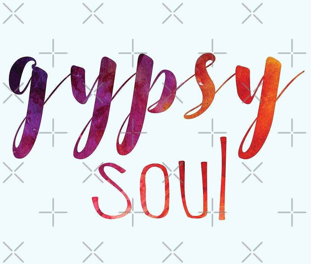 Gypsy Soul Watercolor // Weekend Originals Collection by RusticPinesCo