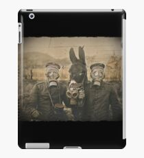 Soldiers and Mule Wear Gas Masks iPad Case/Skin