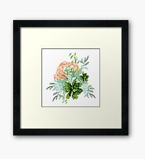 Delicate flower succulent Framed Print