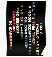 Radiohead Discography Poster