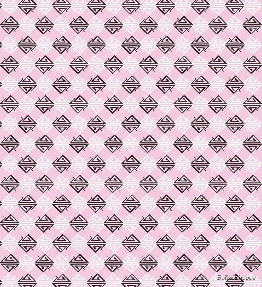 Pink Snake Diamond Harlequin Pattern by SofiesShoppe