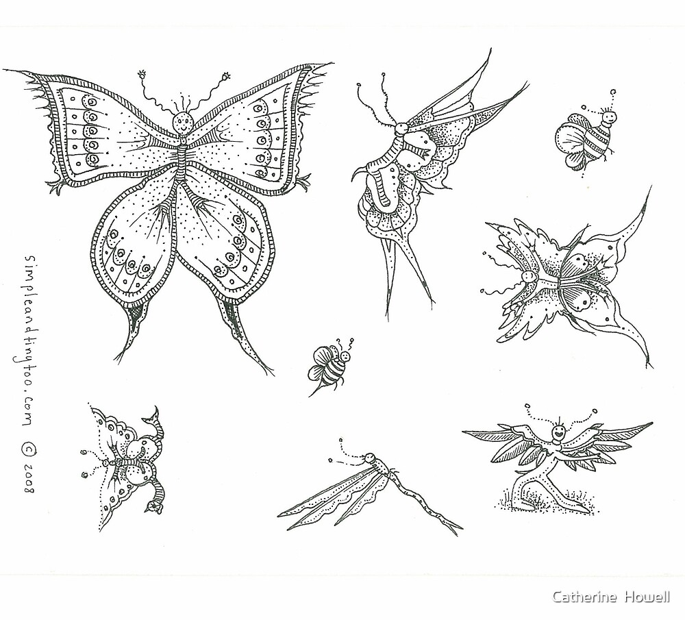 Butterfly People and Friends by Catherine  Howell