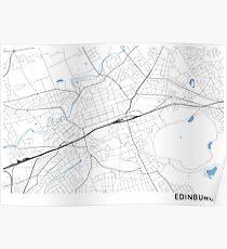 Edinburgh minimalist line map Poster