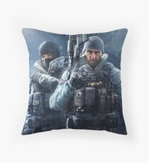 Frost And Buck Throw Pillow