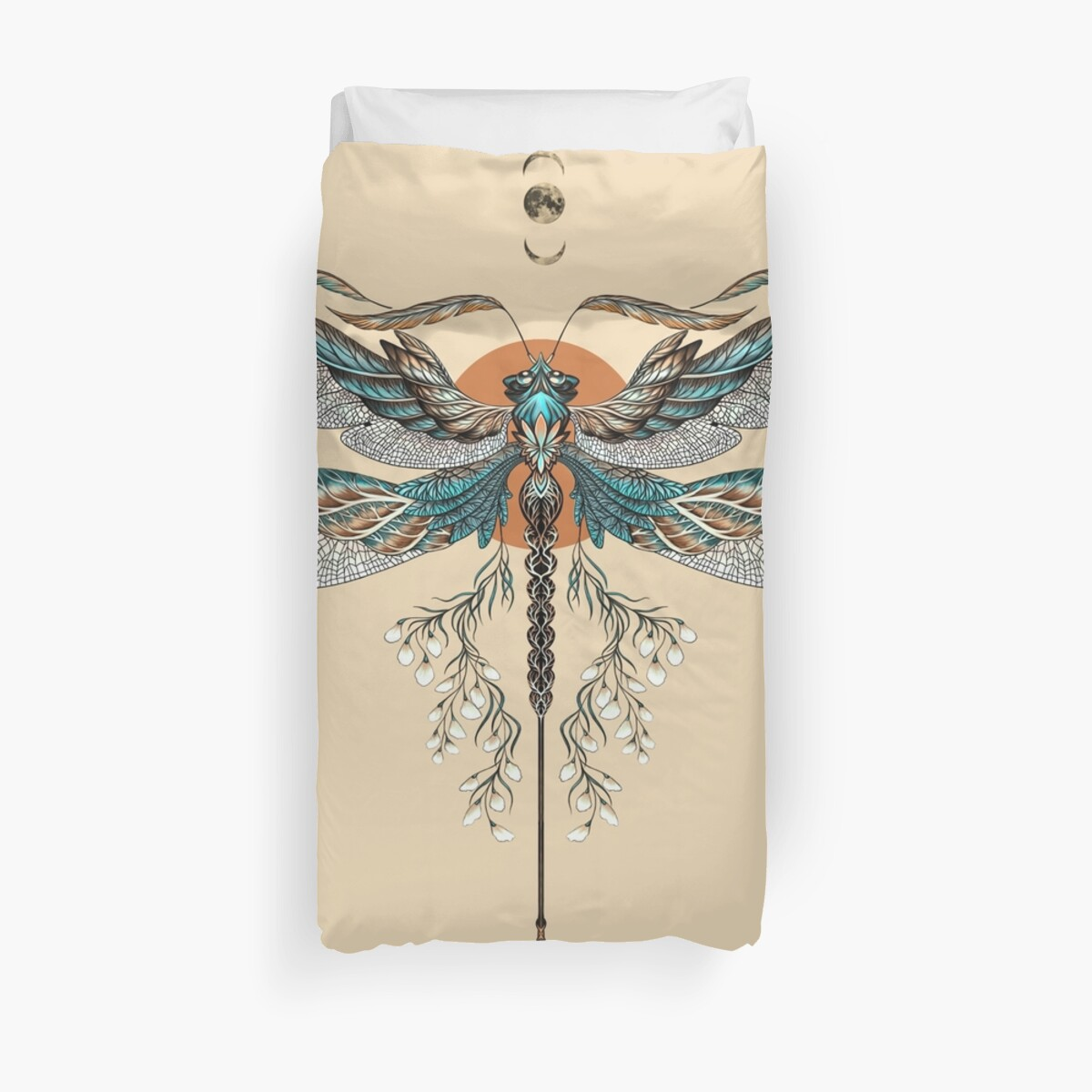 Dragon Fly Tattoo Duvet Cover