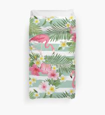 Tropical Flamingos Duvet Cover