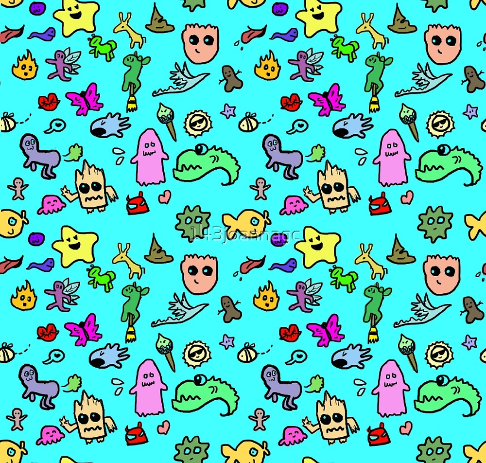 Cute Characters Pattern by 143joannagc