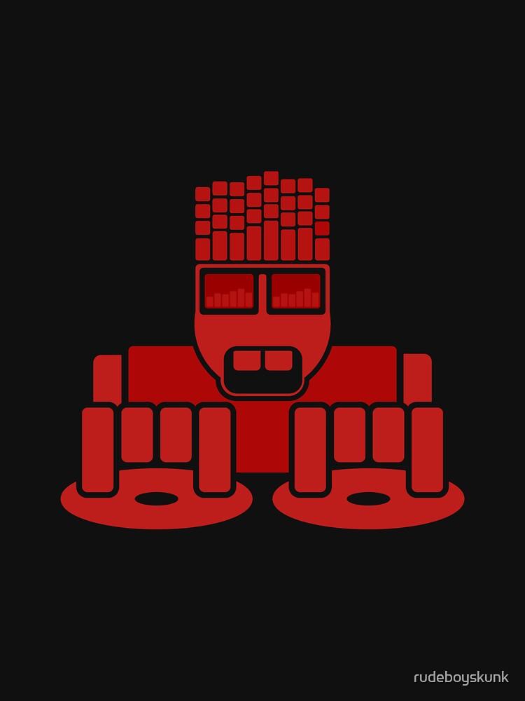 DJ Equalizer (Red Print) by rudeboyskunk