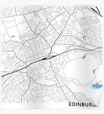 Edinburgh minimalist line map (square) Poster